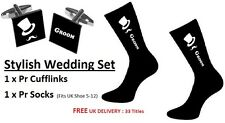 Top Hat & Moustache Cufflinks AND a Pair of Socks Various Roles Available