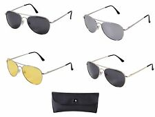 Men's 58mm Pilot's Style Polarized Lens Sunglasses - Chrome & Gold Frame