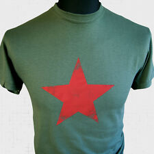 Soviet Star Retro Russian T Shirt USSR Communist State Red Army Vintage Tee
