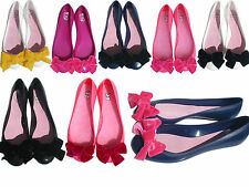 scarpe basse ballerine donna made in italy in gomma e pelle made in italy