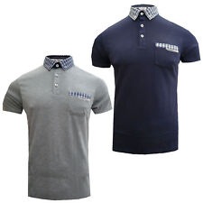Mish Mash Mens Designer Scottie Checked Collar Polo T Shirt Clearance Stock Sale