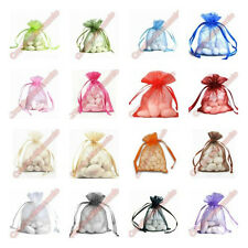 100 pcs Organza Wedding Bridal Baby Shower Party Favor Jewelry Pouch Gift Bags