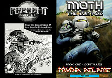 28mm Sci Fi Rules-THE ION AGE-Firefight A4 & MOTH Prydia Aflame A5 Rules-Multi