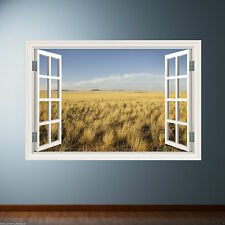 GRASS WINDOW Full Colour Room wall art sticker decal transfer mural Graphic