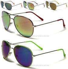 DESIGNER SUNGLASSES MENS LADIES AVIATOR MIRRORED VINTAGE LARGE FASHION NEW UV400