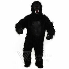 Adult Gorilla Suit Fancy Dress King Kong Big Monkey Full Body Scary Black Mens
