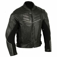 Vented Premium Leather Jacket Motorbike Motorcycle Racing Leather Coat CE app