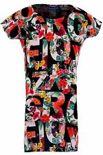 Girls Multicolour Floral Alphabet Letter Cap Sleeve Children's Bodycon Dress