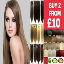 """15 18 22"""" Real Thick long wavy curly straight black hair extensions full head"""
