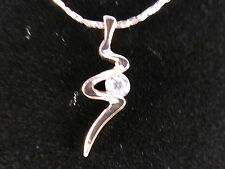 Austrian Crystal 18k Gold Plated Ladies Stylised Scribble with Crystal Necklace