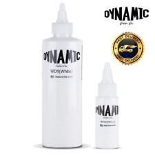 Dynamic White Tattoo Ink - 1oz or 8oz original bottle - UK Supplier
