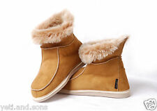 Yeti&Sons Womens Ladies Sheepskin Boot Moccasin Slippers 100% Real Fur ALL SIZES