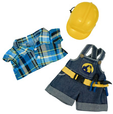 Teddy Bear CONSTRUCTION WORKER w/HARD HAT CLOTHES Fit14-18