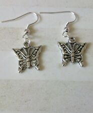 Tibetan silver butterfly : choice of necklace,earrings or gift set