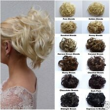 Clip On Bun High Volume UPDO Chignon Curly Wavy BUN (C10)