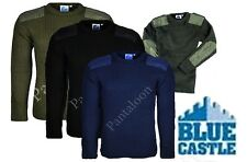 Security Style CREW Neck Combat Army Style Work Jumper  S.TO 3XL