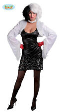GUIRCA Costume vestito Crudelia Demon halloween carnevale donna  mod. 80584