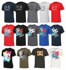 Mens DC T Shirt Short Sleeve Printed Tee Skateboard Sports Cotton Casual Summer