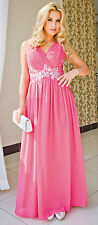 Formal Bridesmaid Cocktail Party Evening Prom Chiffon Dress Size 8 - 16