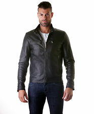 Giacca Giubbotto Pelle Uomo Men Leather Jacket Veste Blouson Homme Cuir EMILIANY