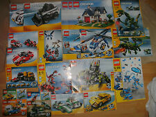 USED LEGO CREATOR SET INSTRUCTIONS ONLY - NO LEGO. SPARES CHOOSE THE 1 YOU WANT