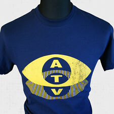 ATV T-Shirt Retro Cool Retro Logo TV Vintage Old School Gold Cult