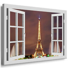 wandbild paris eiffelturm bild leinwandbild keilrahmenbild. Black Bedroom Furniture Sets. Home Design Ideas