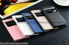 New Leather S View Working Flip Cover Case for Samsung Galaxy Grand 2 G7102