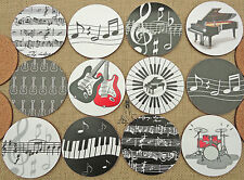 MUG MAT MUSIC NOTES GUITAR DRUMS PIANO KEYBOARD GIFT MUSICIANS TEACHERS STUDENTS