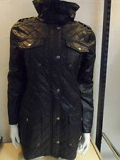 WOMANS LADIES BLACK BARBO*r STYLE COTTON LINED LIGHT MEDIUMWEIGHT QUILTED JACKET
