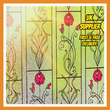 Colourful Static Window Film Glass Etched PVC Vinyl Frosted Privacy Art Nouveau