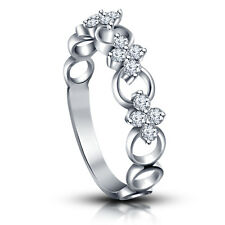 Awesome Band with American diamond & CZ Ring in White Platinum Plated 925 Silver