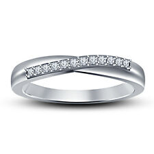 White Platinum Plated 925 Sterling Silver American Diamond Exclusive Band Ring