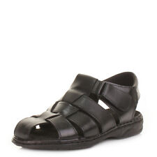 Mens Comfort Fisherman Real Leather Velcro Summer Sandals Shoes Uk Size
