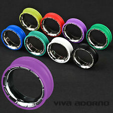 8-26mm SILICONE ACCIAIO Flesh Tunnel Plug double flared Piercing Orecchio Z204