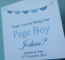 Personalised Thank You Best Man Usher Page Boy Groomsman Dad Card Wedding