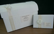 Wedding  post box and guest book, decorated, shabby chic, vintage, flower, lace