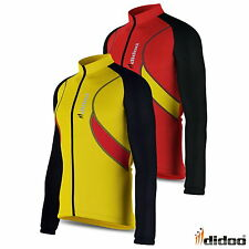 Mens Long Sleeve Thermal Cycling Jersey Zipper Biking Top Outdoor Sports Shirt