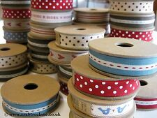 Nastro East of Indian 3M Rotolo - Righe, Pois, Uccelli, Cuore, Vintage - 15mm
