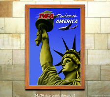 4 sizes, matte+glossy avail Vintage Airline Travel Poster UAL Hawaii #2