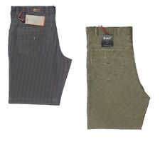 MENS BRENZI JEANS CUT TROUSERS IN BLACK&KHAKI COLOURS CLEARANCE PRICE £17.99