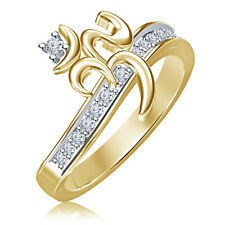 Spacial-OM-Ring-in-14K-Gold-Plated-925-Sterling-Silver-White CZ for-Men-or-Women