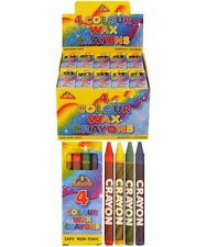 Pack of 4 Mini Coloring Wax Crayons 1 to 240 Lucky Dip/Party Bag/Christmas Fille