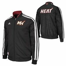 adidas NBA Miami Heat Tracktop Basketball Sportjacke Jacke On Court schwarz