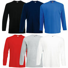 FRUIT OF THE LOOM SHIRT LONGSLEEVE VALUEWEIGHT LANGARMSHIRT LONG SLEEVE T-SHIRT