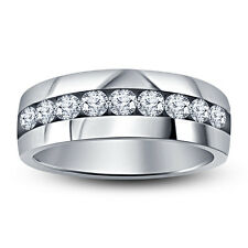 White Rhodium Plated 925 Silver CZ Diamond Special For Men's Superb Band Ring
