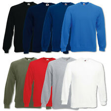 FRUIT OF THE LOOM SWEATSHIRT PULLOVER CLASSIC RAGLAN PULLI - GR. S M L XL XXL -
