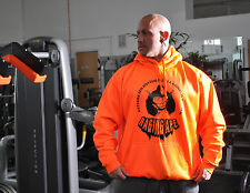 BODYBUILDING HOODY RAGING APE MUSCLE TRAINING GYM WEAR WORKOUT HOODED SWEAT NEON