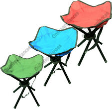 BRAND NEW FOLDABLE PORTABLE FISHING HIKING CAMPING OUTDOORS 4 LEG STOOL SEAT