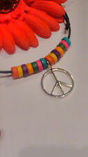 Hippy multi coloured Rainbow Bead Surfer Choker*Earrings*Bracelet*Anklet* Unisex